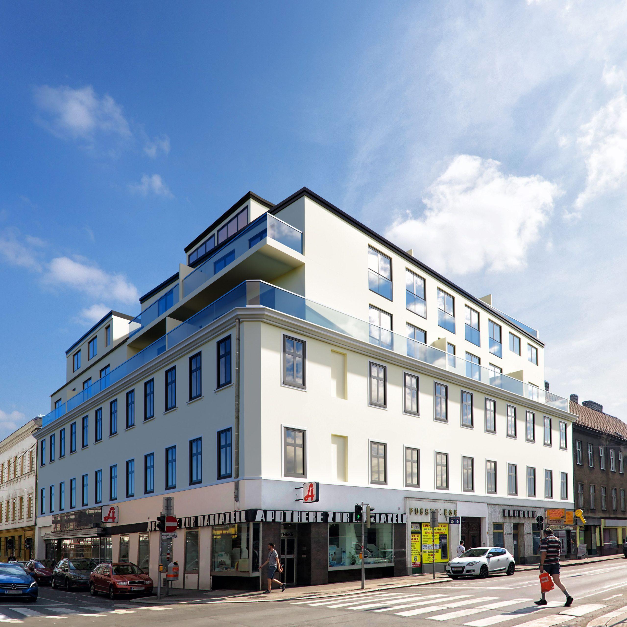 15. Sechshauser Straße 41-Straßenseite